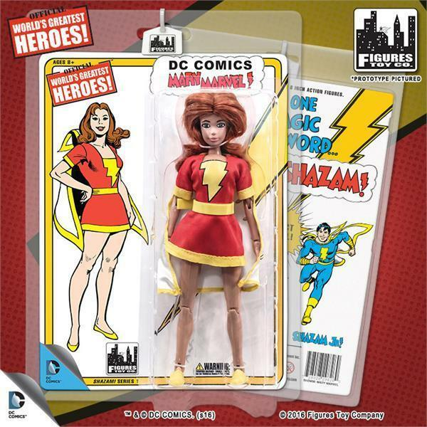 DC Retro Mego Kresge Style Shazam Mary Marvel Series 1 Action Figure