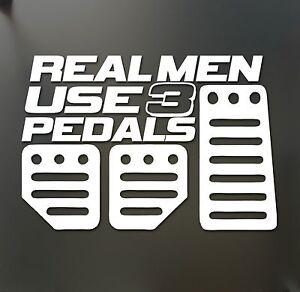 Real Men Use Pedals Sticker Funny JDM Acura Honda Race Car Truck - Custom race car window decalsreal women usepedals sticker funny jdm honda girl race car