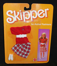 BARBIE ABITO SKIPPER SO ACTIVE FASHIONS #2234 MATTEL 1985 DRESS OUTFIT KLEID