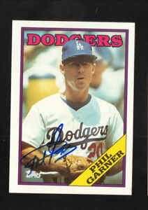Details About Phil Garner Autographed 1988 Topps Baseball Card Los Angeles Dodgers