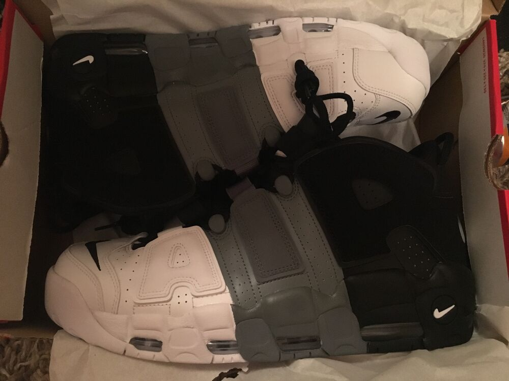Nike Air More Uptempo'96 Tri-couleur UK 13 RARE Taille-