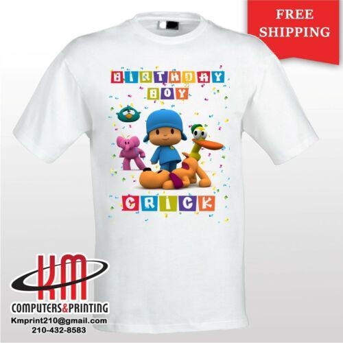 Pocoyo  Custom T-shirt PERSONALIZED Birthday Shirt