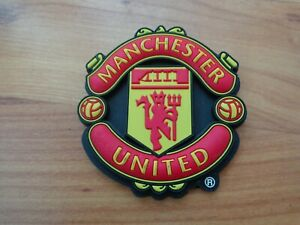 Classic Official Manchester United Crest Emblem Football 3d Fridge Magnet Badge Ebay