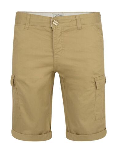 Lee Cooper New Mens Plain Cargo Combat Bermuda Shorts Summer Casual Cotton Pants