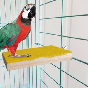 Pet-Bird-Cage-Perches-Stand-Platform-Paw-Grinding-Toys-Parrot-Parakeet-Chew-Toy
