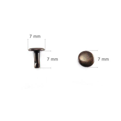 Doppelhohlnieten Doppelkopf Nieten Taschen Kurzwaren Hohlnieten 6mm//7mm//9mm
