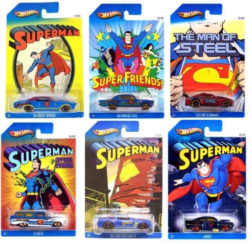 Modelauto Hot Wheels Superman Sonderedition 6 Auto Set BBX86 1:64