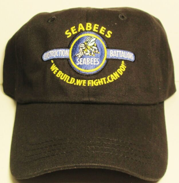 "SEABEES CONSTRUCTION BATTALION  ""WE BUILD,WE FIGHT,CAN DO !""  CAP/ HAT"