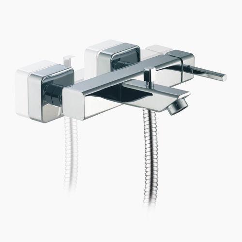 Miscelatore rubinetto Vasca Vasca Vasca Esterno  con Kit Doccia Porta & Bini Sky 652164