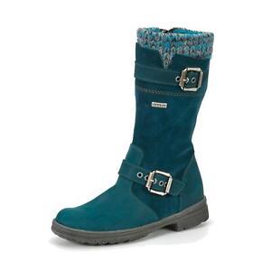 zu Leder Details Mädchen Kinder Stiefel wasserdicht Däumling SYMPATEX® Schuhe Winterschuhe nmN0v8ywO