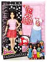 Barbie Fashionistas Doll And Fashion Pizza Pizzazz Petite Dark Haired Doll Set