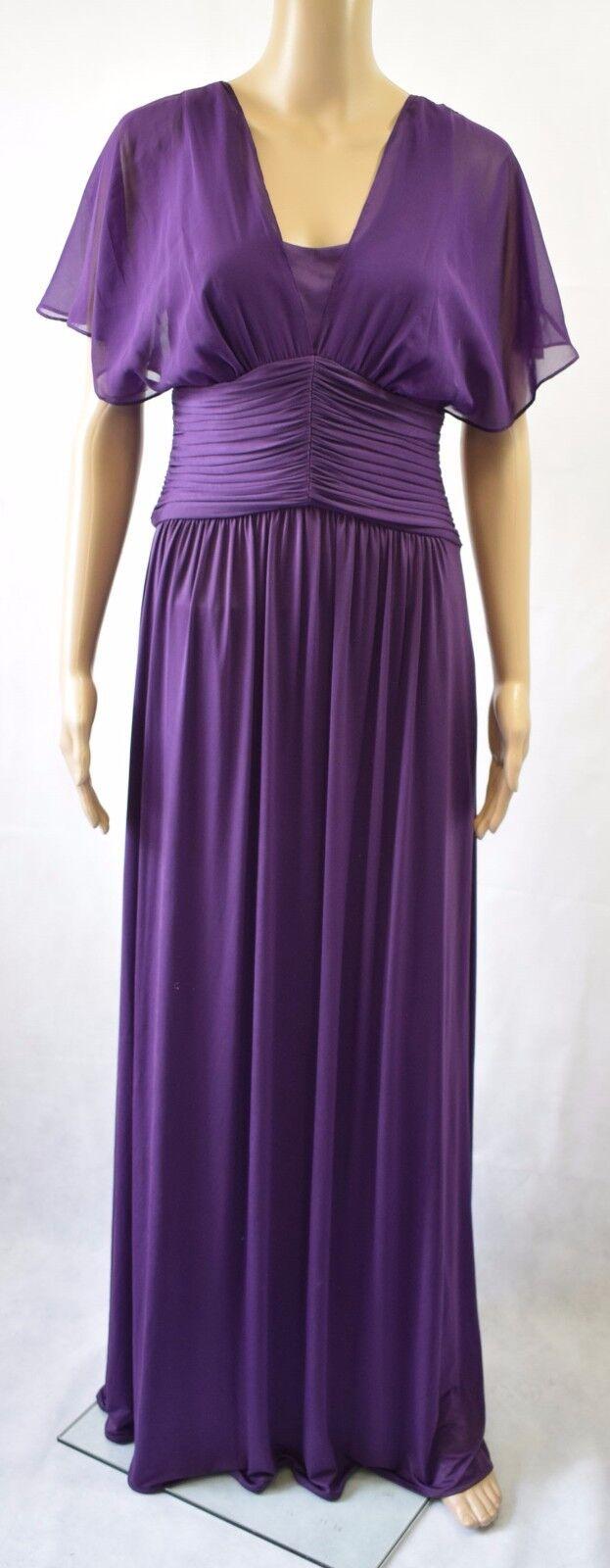 Bnwt John Lewis Helena Chiffon Maxi Dress In lila - UK 18 -    (R182)