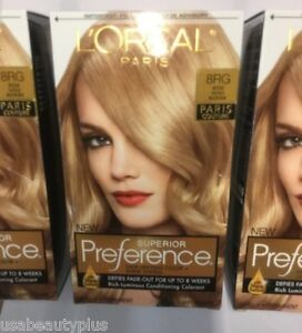 3 X L Oreal Superior Preference Paris Couture Hair Color Rose Gold