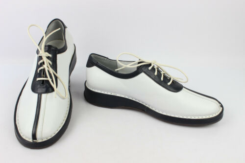 Derby shoes REGARD Leather black and white T 36 VERY GOOD CONDITION