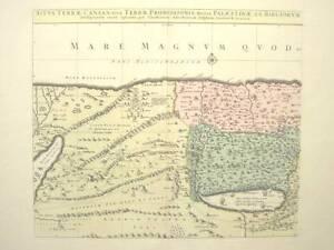 Ansichten & Landkarten Orig Oldcoloured Coppermap Covens&mortier Palaestina Komplette Artikelauswahl Antiquitäten & Kunst