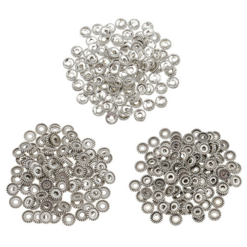 100pcs Tibetan Silver Spacer Beads Flower fit Charm DIY Jewelry Findings 8mm