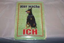 Dobermann Blechschild 20x30 cm Blechschilder  Schild Hund Wachhund  Warnschild