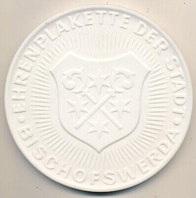 100% QualitäT Bischofswerda (sachsen) Ehrenplakette Der Stadt (1974) Gipsform, Durchmesser Ca. Buy One Give One