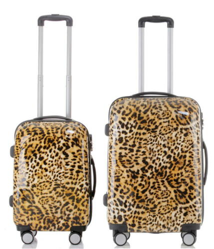 Polycarbonate ABS Valise de voyage Trolley Set Bagages Vacances BB Rockabilly Leo