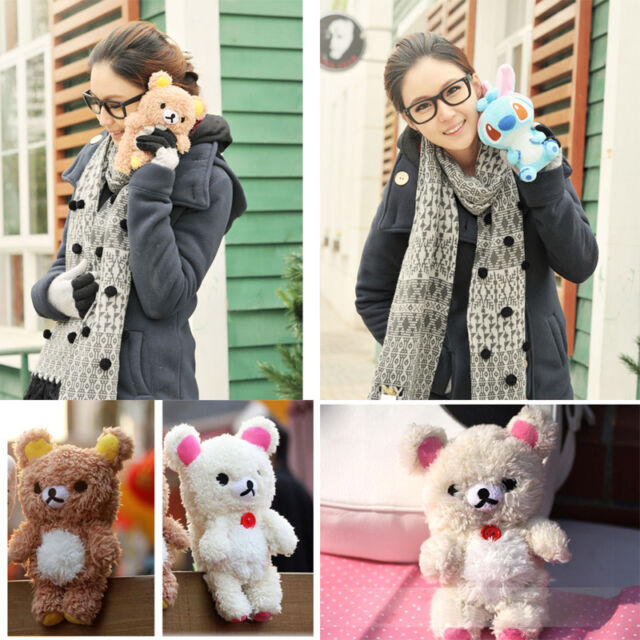 Clever 3D Teddy Bear Cool Plush Toy Doll Cover Case For Apple Samsung Phones