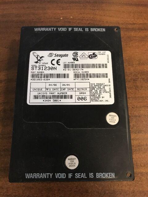 """Seagate ST31230N 1.05GB 3.5/"""" 5400RPM 50 Pin SCSI HD"""