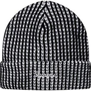 987ab3a72a6 SUPREME Grid Beanie Black box logo camp cap knit tnf pcl F W 15
