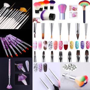 Lot-Pinceaux-Manucure-Nail-Art-Ongle-Brosse-de-Gel-UV-Conseils-d-039-ongle-Dessin