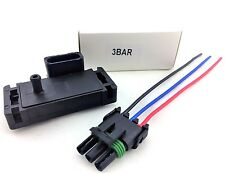 3BAR 3 BAR MAP SENSOR FOR ELECTROMOTIVE MOTEC MEGASQUIRT & PLUG HARNESS KIT GMC