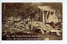 "Malt Grinding Mill ""for Blockade"" NC Blue Ridge Mts PC Rare CIVIL WAR? ca. 1910s"