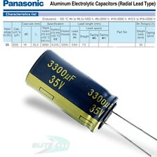 Panasonic Fc Series 35v 3300uf Electrolytic Radial Capacitors 18 X 355mm