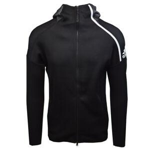 Adidas-Men-039-s-Black-Z-N-E-Primeknit-Full-Zip-Hoodie-Retail-200