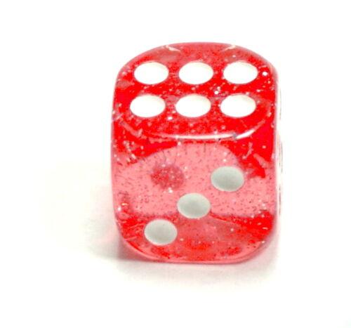 10 Stück Glitter-Würfel in Rosa und//oder Hellblau 16mm//6 Seitig//W6 Glitzerwürfel