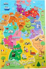 Trefl 10417 learning puzzle map of germany ebay item 2 wooden puzzles world map flags globe geography german children kids jigsaw wooden puzzles world map flags globe geography german children kids gumiabroncs Image collections