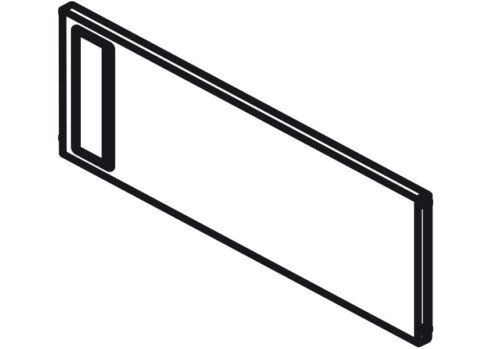 Blum AMBIA-LINE Querteiler einzeln für B=242mm H=110mm oriongrau matt