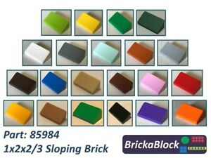 85984 20 x LEGO 1 X 2 X 2//3 Slope // Roof Brick Yellow Free p /& p