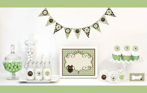 green gender neutral baby shower party decorations starter kit ebay