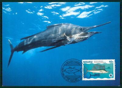 KöStlich Nauru Mk 1997 Fauna Fische Tropical Fish Pesce Peche Maximumkarte Mc Cm En40
