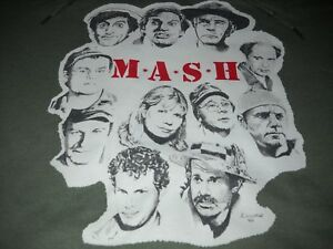 MASH-M-A-S-H-4077th-TV-SHOW-ALAN-ALDA-HOT-LIPS-ART-MILITARY-GREEN-HOODIE-XL-NR