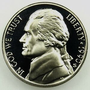 S  Proof Jefferson  Nickel Full Steps Gem  Proof Nice Coin 1990