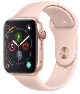 Apple-Watch-Series-4-44mm-Gold-Case-Pink-Sand-Sport-Band-GPS-Cellular-Mint