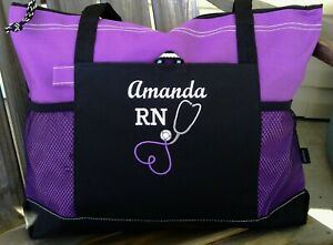 Details About Personalized Nurse Reciation Gift Nursing Tote Bag Medical Rn Lpn Cna Zipper