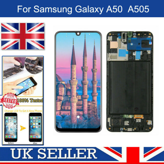For SAMSUNG GALAXY A50 SM-A505F 2019 AMOLED LCD TOUCH SCREEN DISPLAY BLACK