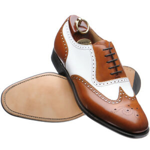 Custom-Two-tone-Men-039-s-leather-dress-shoes-Handmade-mens-formal-shoes