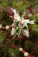 Vintage Style Pine Cone Corsage Ornament Beaded Picks Ragon House 11884