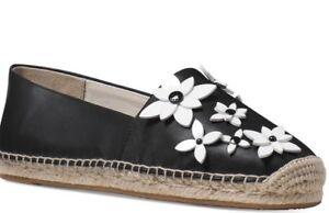 5fe5137620 New Michael Kors Kendrick Slip On floral flowers leather Espadrille ...