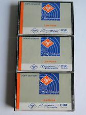 3 x AGFA-GEVAERT Low Noise C 90 Compact Cassette 1970-1971 Sammler Kassette Tape