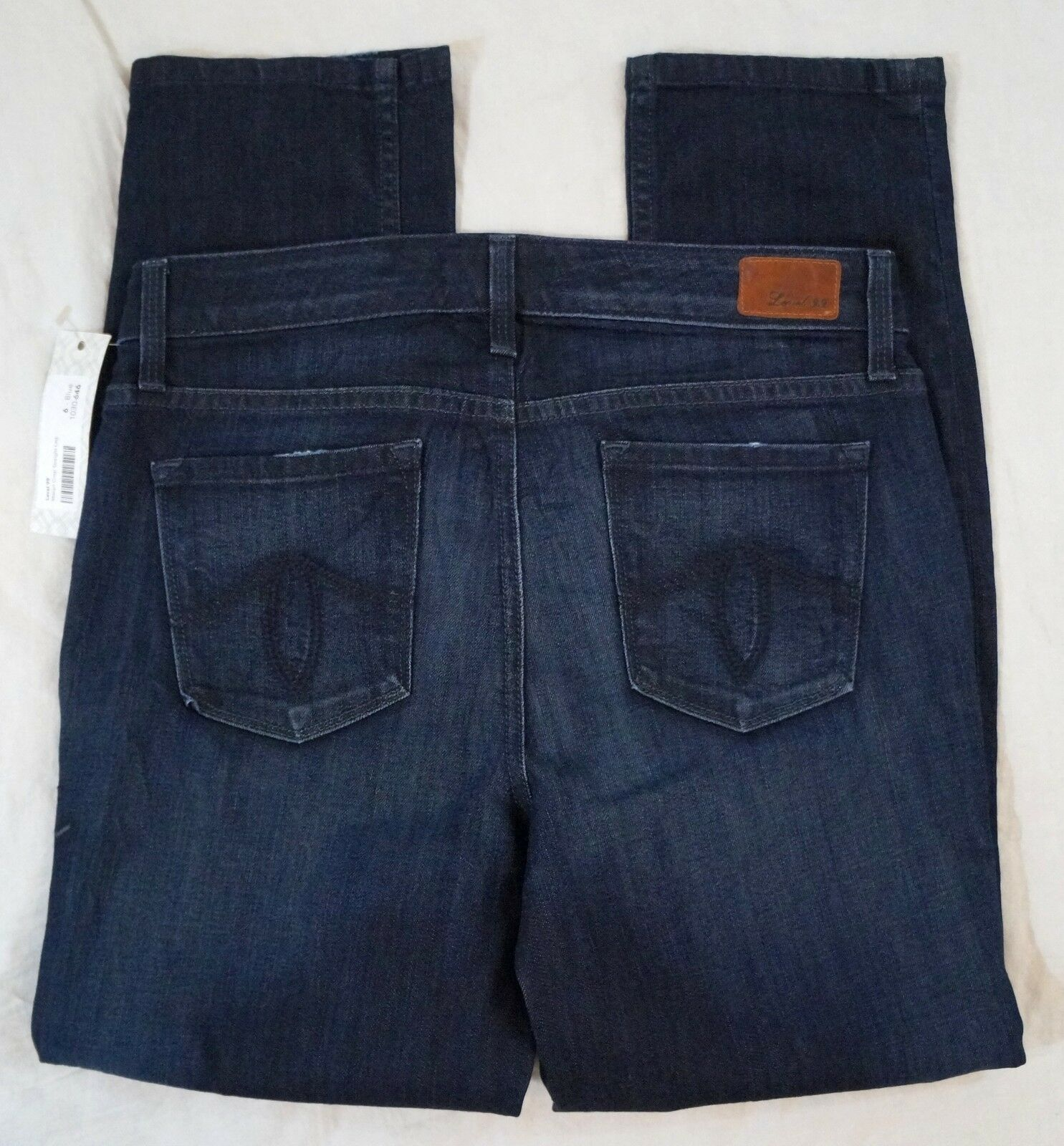 New Level 99 Anthropologie Macyn Crop Straight Leg Size 28 Dark Wash Jeans