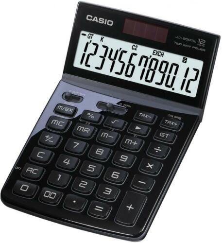CASIO Tischrechner JW-200 TW-WE Solar-// Batteriebetrieb
