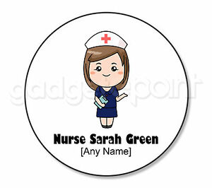Personalised Gift Nurse Coaster Light Green Dress Student Mentor Present Square