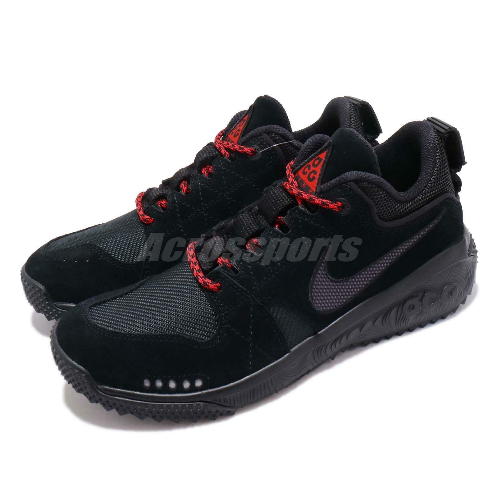 Nike ACG Dog Mountain Black Grey Red Men Women Outdoors Trail shoes AQ0916-003